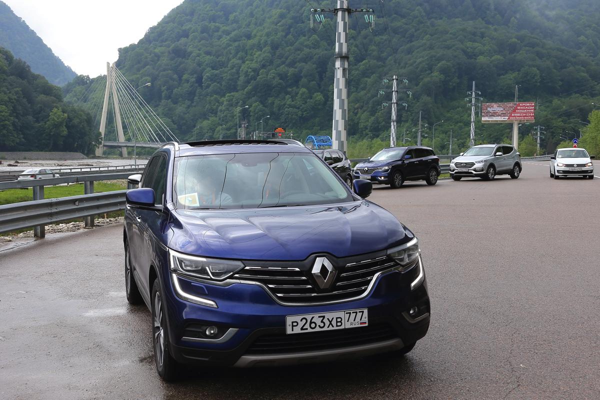 Тест драйв Renault Koloeos в Сочи, по новой дороге на Красную поляну