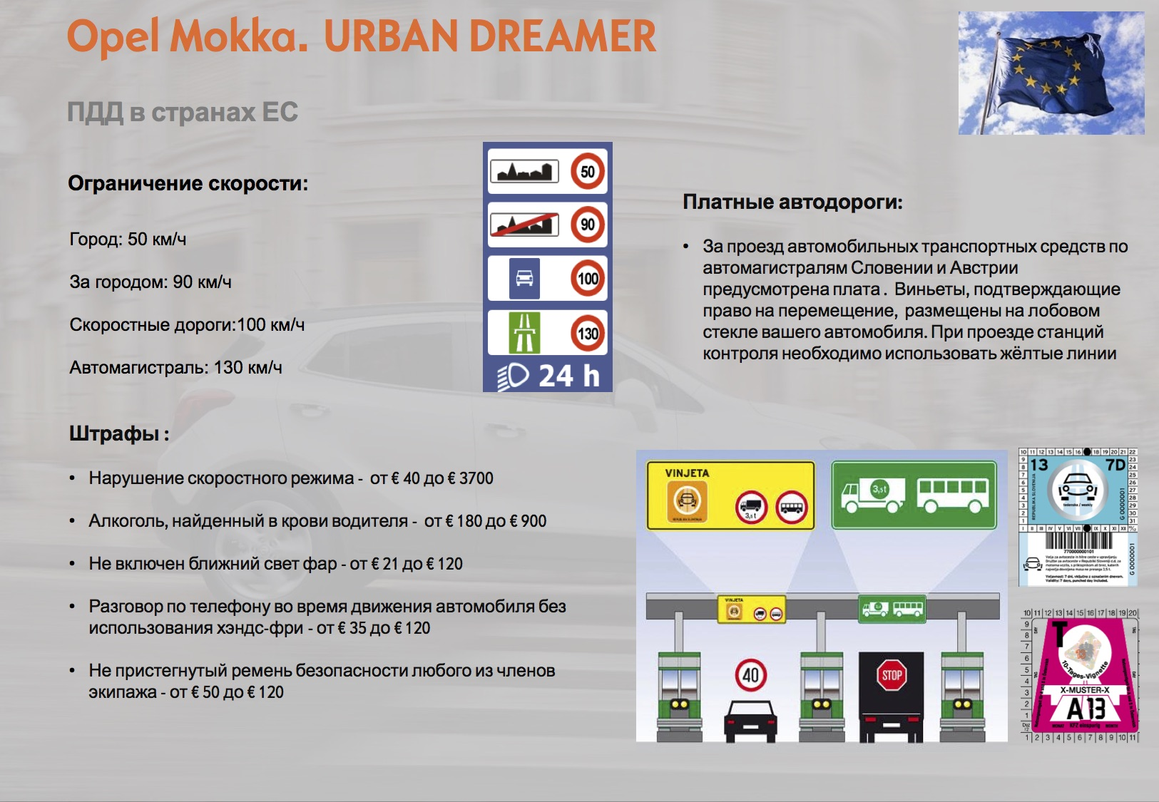 Opel Mokka: Встречаем гостей. Короткое знакомство и брифинг по маршруту и ПДД