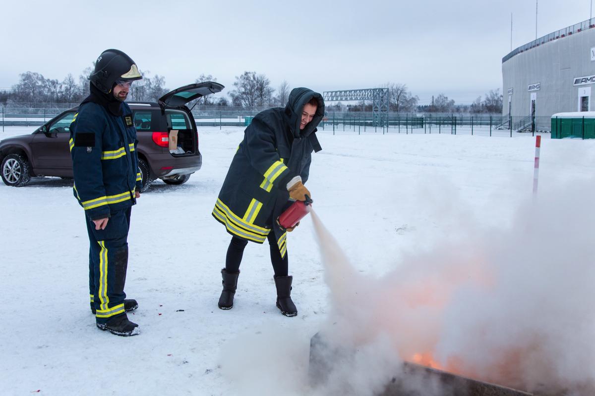 Skoda: конкурс Учебное пожаротушение