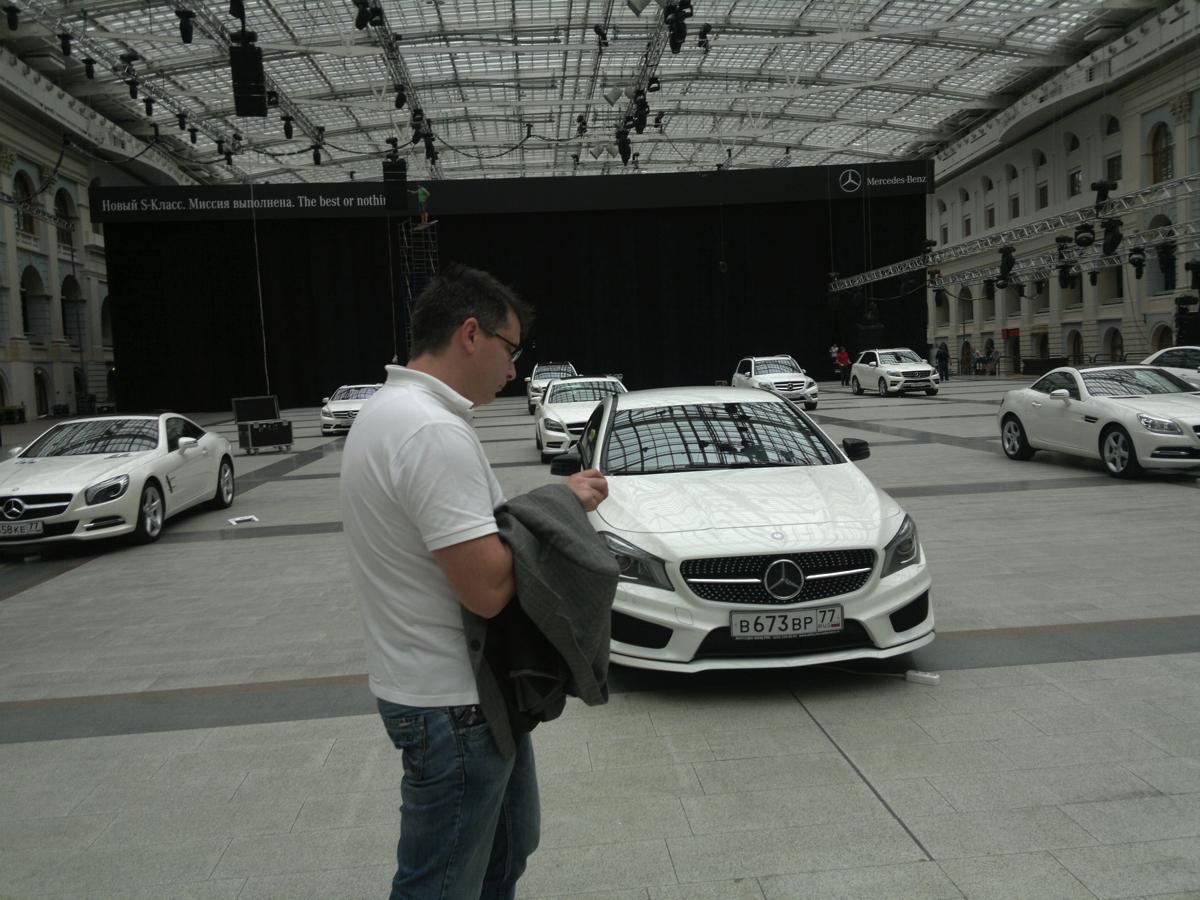 Вадим Шитко : На следующий день необходимо было согласовать с клиентом схему расстановки автомобилей и выстроить их как по линейке практически по всей площади Гостиного двора.